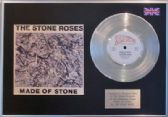 "THE STONE ROSES - 7"" Platinum Disc + cover - MADE OF STONE"